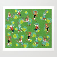 tennis Art Prints featuring Tennis by misslin