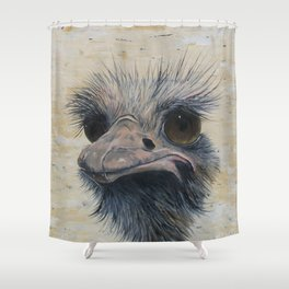 Ostrich, Ostrich Painting, by Faye Shower Curtain