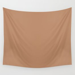 Light Orange-Brown Solid Color Pairs To Benjamin Moore Potters Clay 1221 Wall Tapestry