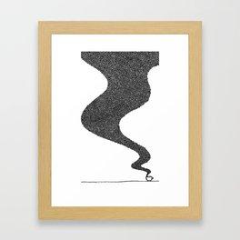 i drink good coffee. Framed Art Print