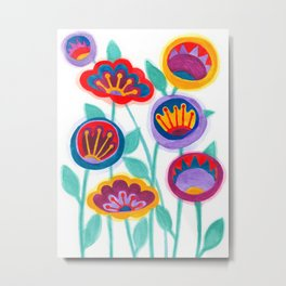 raw flower garden Metal Print