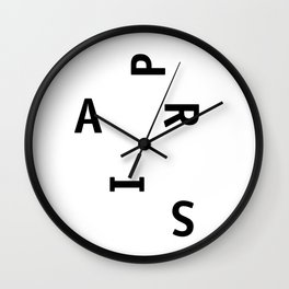 Paris — Poster, City, Place, Metropolis, Geography, France, Europe, City Poster, Map, Art Print Wall Clock