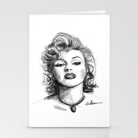 marylin monroe Stationery Cards featuring Marylin Monroe.... by Emiliano Morciano (Ateyo)