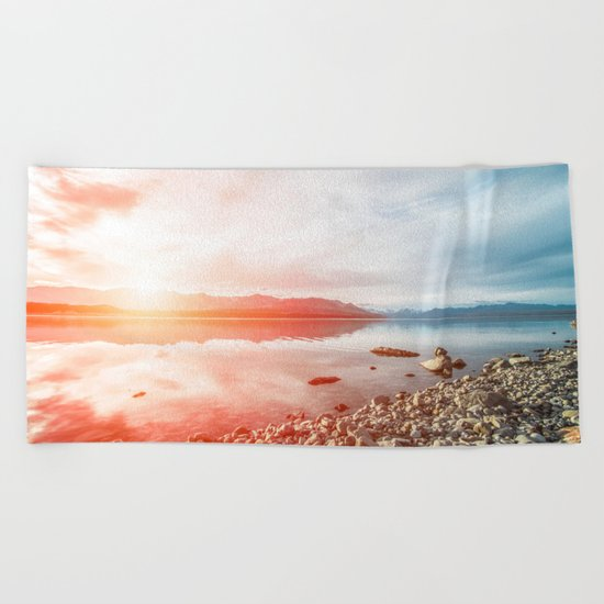 Sunset Landscape #photography Beach Towel