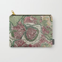 Vintage Map of Vienna Austria (1730) Carry-All Pouch