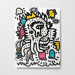 Graffiti King with Funk Flashy Colored Ghost Metal Print