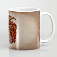 capricorn Mugs featuring Capricorn by redrockit