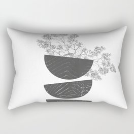Vibration - Minimalism Mid-Century Modern Forms Rectangular Pillow