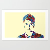 david tennant Art Prints featuring David Tennant - Doctor Who by lauramaahs