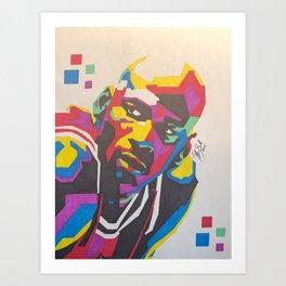 MichaelJordan (intensity) Art Print