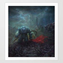 The Black Knight Prevails! Art Print