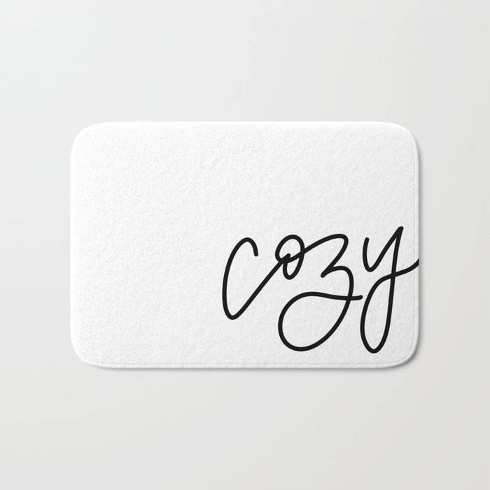 Cozy Up in Black and White Bath Mat