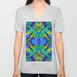 Colorful digital art splashing G476 Unisex V-Neck