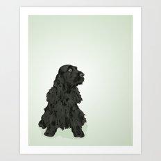 Black English Cocker Spaniel Art Print