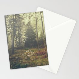 They whisper things Stationery Cards