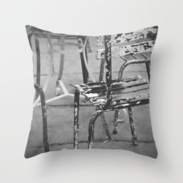 Weathered and worn Throw Pillow