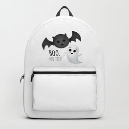 Boo, You Suck! (Ghost & Vampire Bat) Backpack