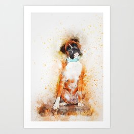 Boxer Dog Art Art Print