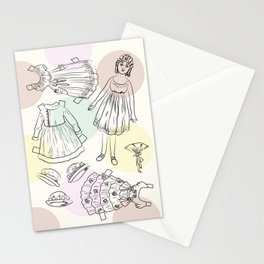 Victorian Paper Doll Stationery Cards