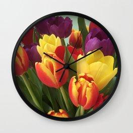 Towering Tulips Wall Clock