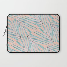 Palm Leaves Coral Laptop Sleeve