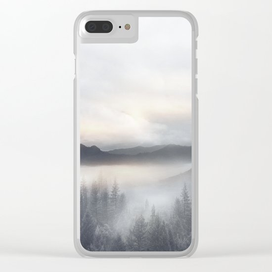 Sunrise in the Mountains Clear iPhone Case
