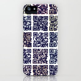 QR Codes to Playlists iPhone Case