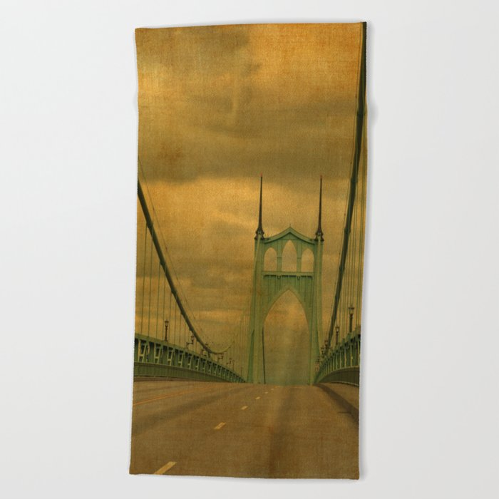 ST JOHNS BRIDGE Beach Towel