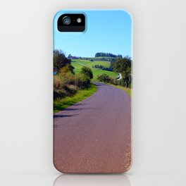 Country road with scenery II   landscape photography iPhone Case