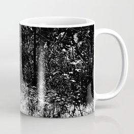 Forest mess black and white high contrast abstract plants Coffee Mug