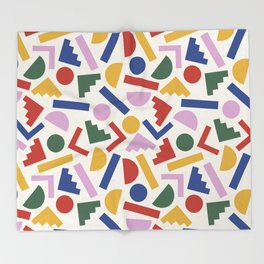 Colorful Geometric Shapes Throw Blanket