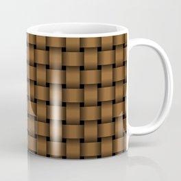 Small Brown Weave Coffee Mug
