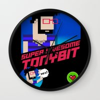 8 bit Wall Clocks featuring 8-bit by EarlyHuman