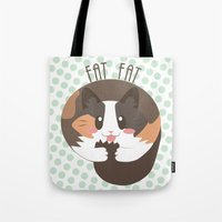 my mad fat diary Tote Bags featuring Fat Fat by Astrobunny
