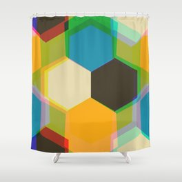 70'S Glam Rock Yellow Shower Curtain