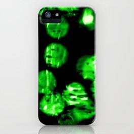 green bokeh iPhone Case