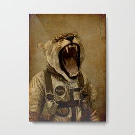 Space Roarrr Metal Print