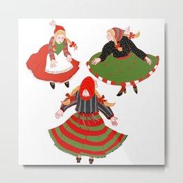 Christmas Dancers Metal Print
