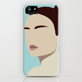 Amelia - modern minimal portrait iPhone Case