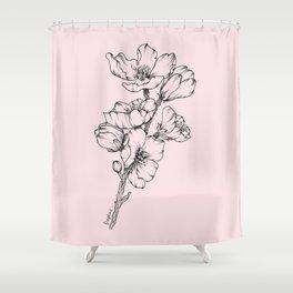 magnolia branch - blush pink Shower Curtain