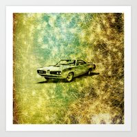 car Art Prints featuring car by Creative Safari