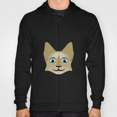 Anime Cat Face With Blue Eyes Hoody