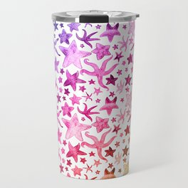 Rainbow Starfish Pattern Travel Mug