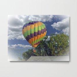 Balloon Landing Metal Print