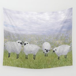 sheep and chicory Wall Tapestry