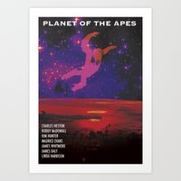 planet of the apes Art Prints featuring Planet of the Apes by KevinACArter