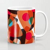70s Mugs featuring orange 70s by Matthias Hennig