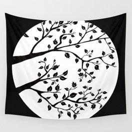 black tree Wall Tapestry