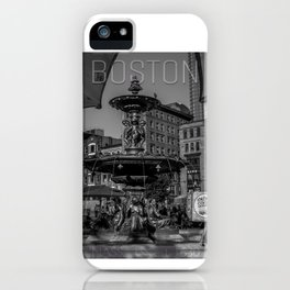 A Gleam of Sunshine - Boston Common Fountain iPhone Case
