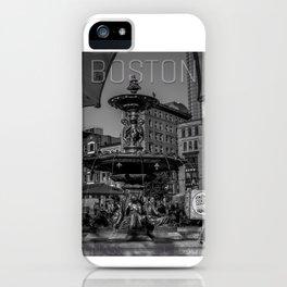 A Gleam of Sunshine - Boston Common Fountain iPhone Case